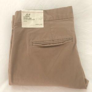 NWT Gap Skinny Crop Khakis